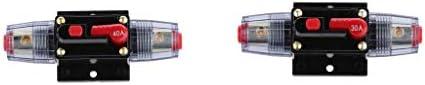 遮断器 手動リセット サーキットブレーカー ヒューズホルダー 30A + 40A 車用 2個入