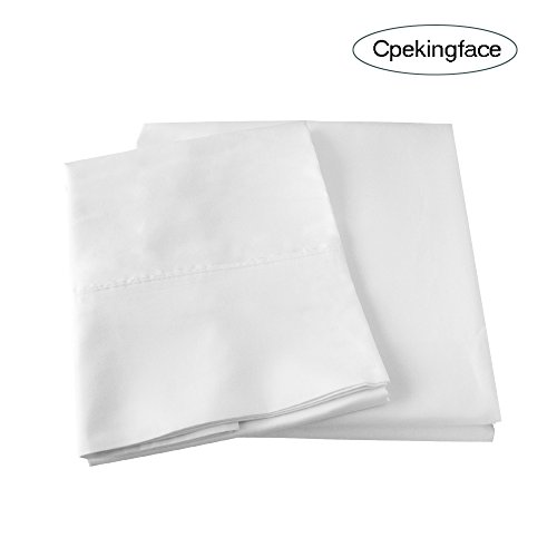 Cpekingface-Softest Modal-100% Natural Beech Wood-80sx80s 200x183 400Thread Count-Deep Pocket-Queen Size 4 Pieces White Modal Bed Sheet Set (White, Queen) by Cpekingface (Image #6)