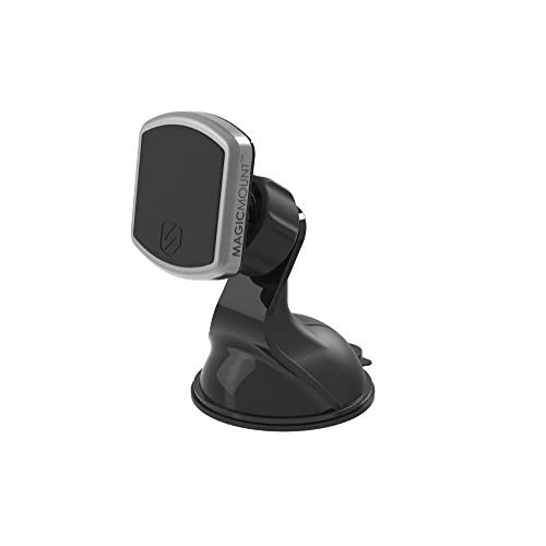 SCOSCHE MPWDA  magicMOUNT Pro - Universal Magnetic Suction Cup Mount for Dash and Desk with Interchangeable Trim Rings