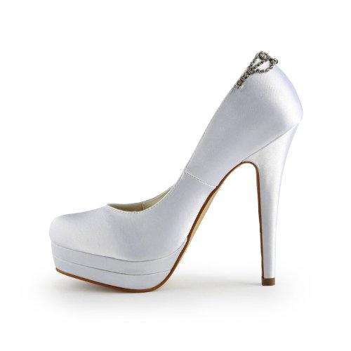 Jia Jia Wedding 40932 Hochzeitsschuhe Brautschuhe Damen Pumps Weiß