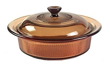 - Corning Visions Amber Round Casserole w/ Lid ( 24 Oz ) ( V-30-B )