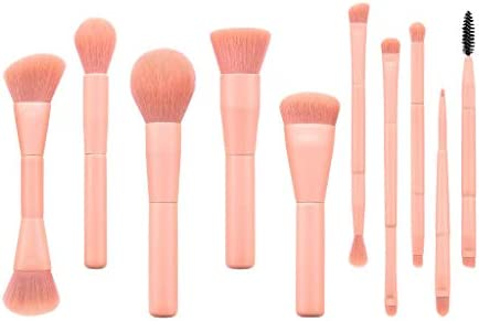 Draagbare Roze Makeupborstels Blusher Vloeibare Poeder Crème Mascara Borstel