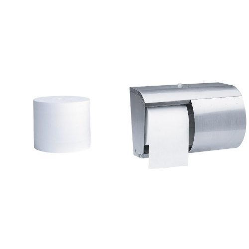 Kimberly-Clark Professional Stainless Steel Coreless Double Roll Bath Tissue Dispenser With 36-Pack Kleenex Cottonelle Coreless Toilet Paper Standard Roll Refill Bundle