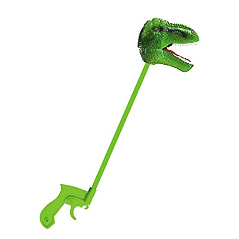 Creative Play: Green T-Rex Snapper - Jaw Snapping T-rex Dinosaur Toy