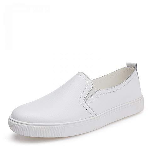 Zapatos Zapatillas de Hasag Zapatos Blancos de Casuales nuevos Mujeres Deporte Zapatos Mujer Las Planos de aB7BqU48