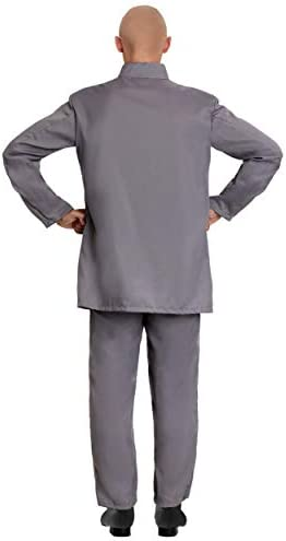 Adult Deluxe Grey Suit Costume Evil Man Suit Outfit 16