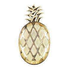 8 Oak Lane ES022PIN Metal Pineapple Tray, 15