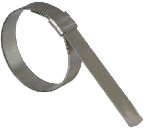 BAND-IT QS3059 Junior 5/8'' Wide x 0.030'' Thick, 1-1/2'' Diameter, Galvanized Carbon Steel Smooth I.D. Clamp (500 Per Box) by Band-It