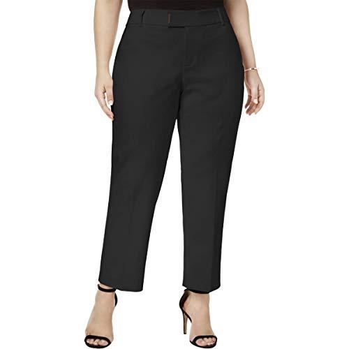 (Charter Club Womens Plus Slim Leg Office Ankle Pants Black 18W)