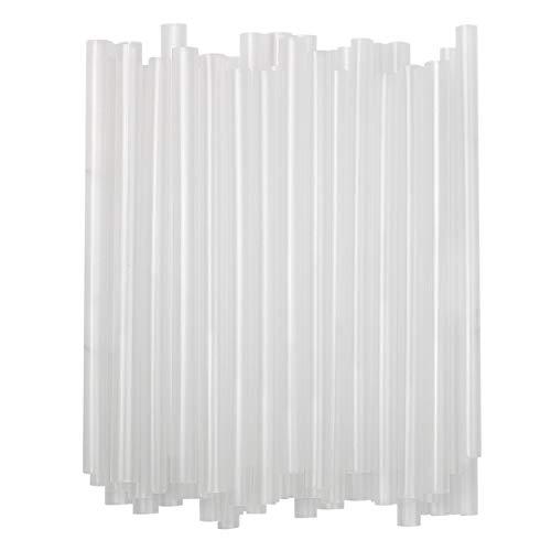 Extra Large Individually Wrapped Milkshake Drinking Straws (Clear, 100)
