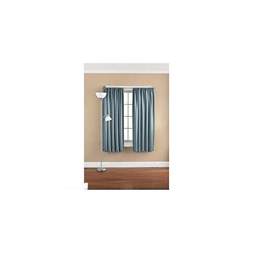 Mainstays Solid Room Darkening Curtain Panel Heritage Blue W 54 By L 95 by Mainstays - Heritage Panel Bed