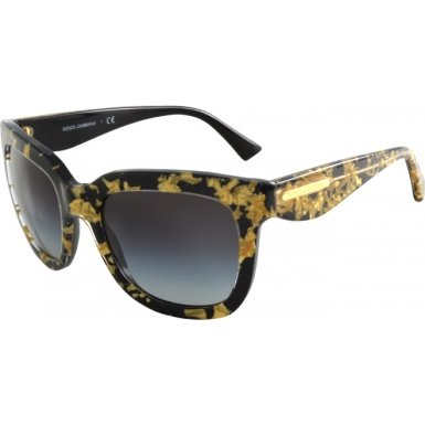 Dolce & Gabbana Women's DG4197 Gold/Gray Gradient - Dolce Sunglasses Leaf And Gabbana Gold