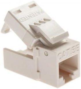 Platinum Tools EZ-SnapJack Cat5e 1 Pack Ivory