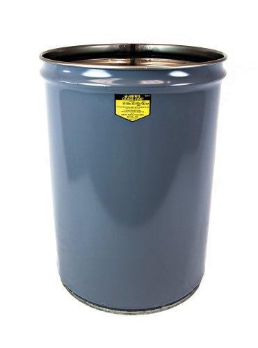 (Justrite 26005 Cease-Fire Steel Drum, 15 Gallon Capacity, 14-1/2