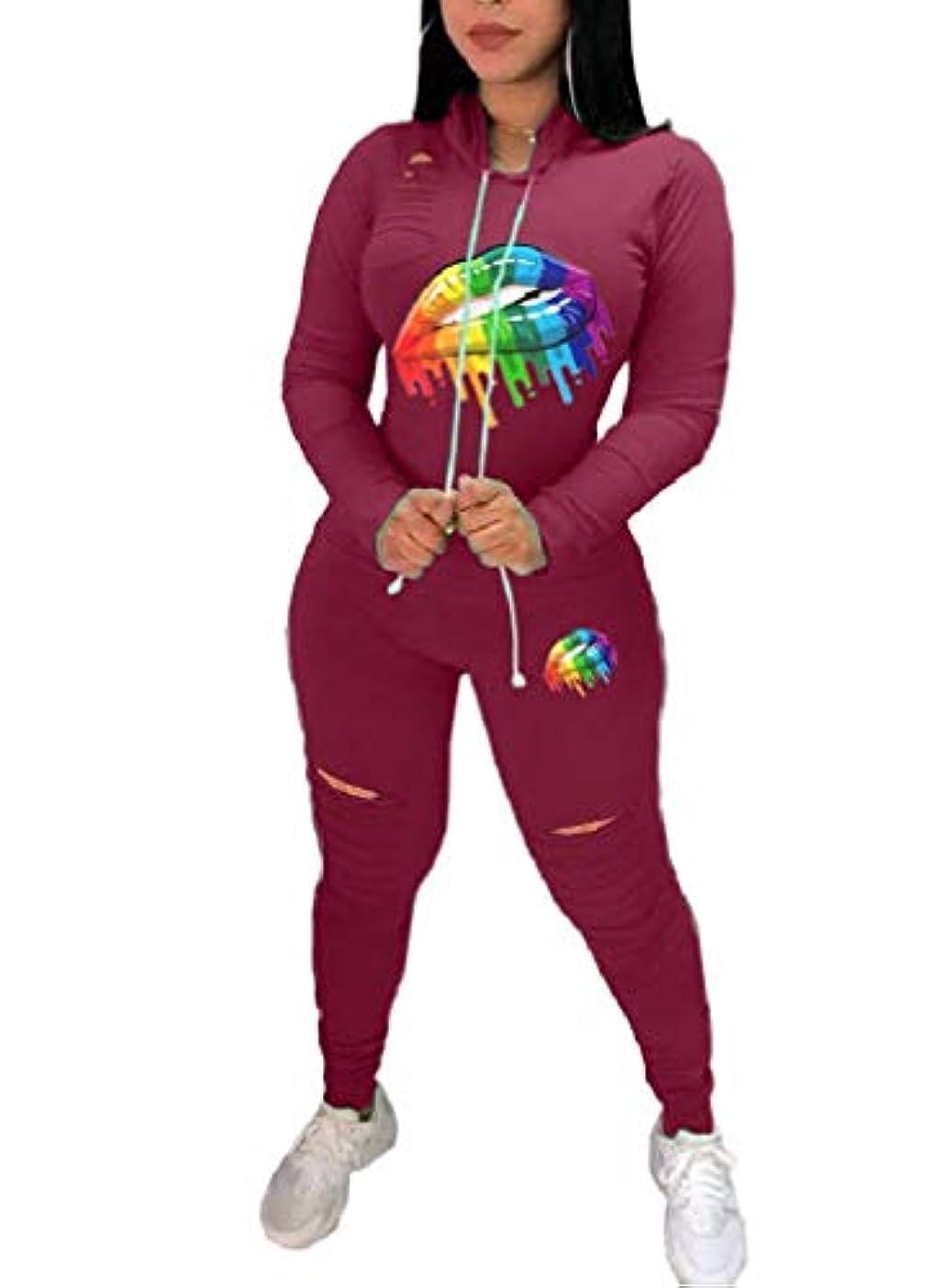 掃くモザイクロケットcheelot 女性カジュアルフローラルプリントトップとスキニーパンツ衣装2ピーススーツ