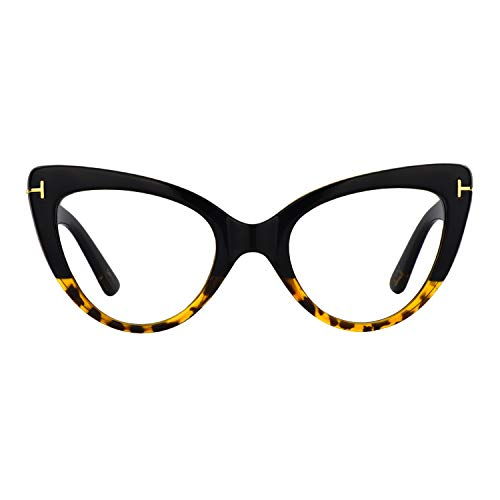 2da391c0e1afa Zeelool Women s Super Vintage Cat Eye Glasses Kristin FP0330-01 Tortoise
