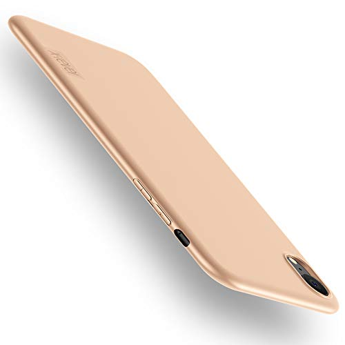 (X-level Slim Fit iPhone XR Case,Soft TPU Matte Surface Ultra Thin Slim Phone Case for Women Light Full Protective Back Cover Compatible Apple iPhone XR (2018) 6.1 inch-Gold)