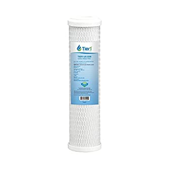 Tier1 Culligan D30, GE FXULC FXUVC Comparable 0.5 Micron 10 x 2.5 Radial Flow Carbon Water Filter