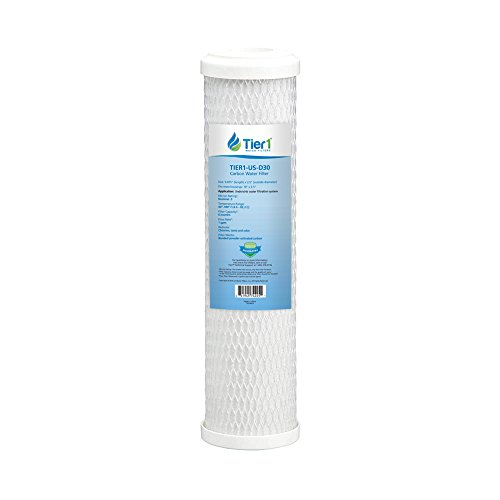 Water Micron Filter 1 (Tier1 Replacement for Omnifilter, GE, Pentek CBC-10 CB3 FXUVC FXULC 0.5 Micron 10 x 2.5 Radial Flow Carbon Water Filter)
