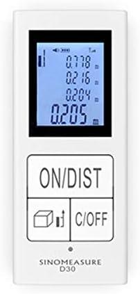 JUAN Instrumento De Medición, 30M / 98 Pies De Mini Telémetro De Alta Precisión De Medición De Mano Sala De Regla Electrónica De Carga USB