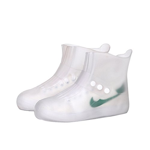 Maketook Unisex Adults and Kids Seamless Rain Boots Shoes - 5 Colors - 8 Size White zKohWFN2k