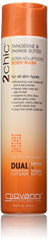 Giovanni 2chic Body Wash with Tangerine and Papaya Butter, 10.5 Fluid Ounce