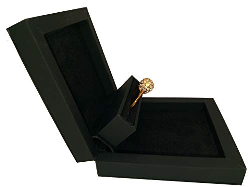 Slim Hidden Proposal Engagement Ring Box, - Solitaire Gift Box