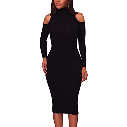 long black fitted dress - 4
