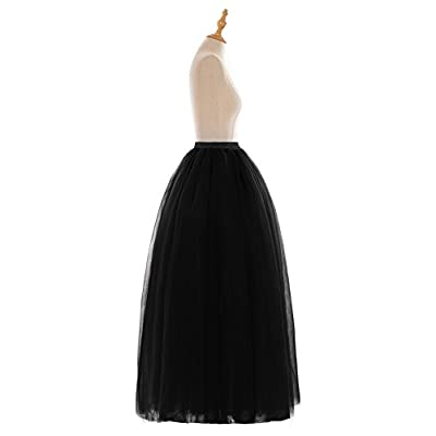 Fatapaese Wedding Planning A-line Maxi Long Tulle Skirt for Women Foor Length Evening Party Skirts at Women's Clothing store