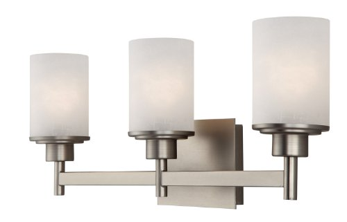 Vanity Lights Cyber Monday : Canarm IVL408A03BN Lyndi 3-Light Bath Vanity, Brushed Nickle General General