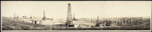 c1910 McKittrick Oil field 36'' Vintage Panorama photo by Historic Panorama Photographs