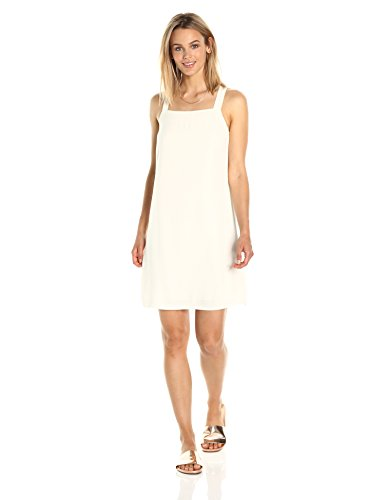 Square Neckline Dress - PARIS SUNDAY Women's  Square Neckline Back Bow Dress, Whisper White, Medium