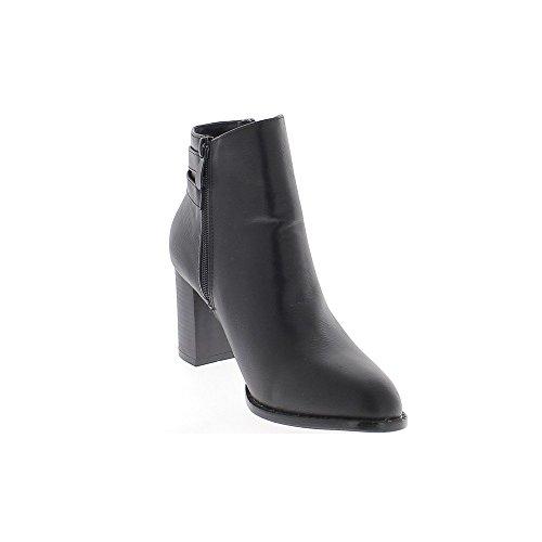 8 Boots Women Da Tacco Alto Pelle In Cm Lucida Al Chaussmoi Black 4vqf5xwqS