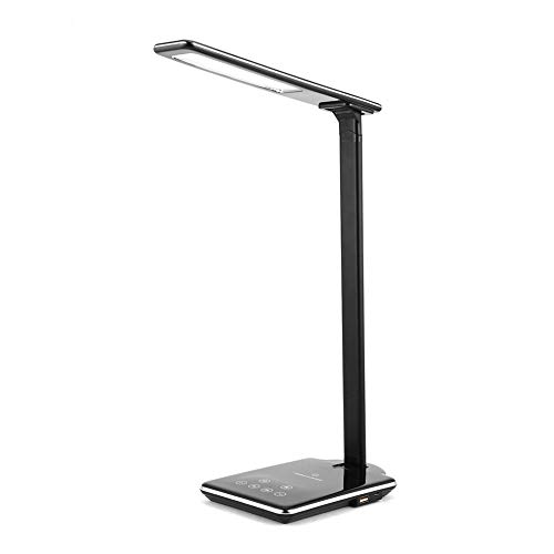 Y&J Multi-Function LED Smart Phone Wired Charging Desk Lamp, Qi Wireless Charger for iPhone 8/X/8Plus Fast Desktop Wireless Charging Pad for Samsung S9 S8