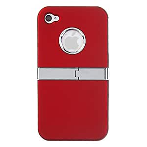 DDLNew Plastic Back Cover with Screen Protector for iPhone 4/4S (Assorted Colors) , White