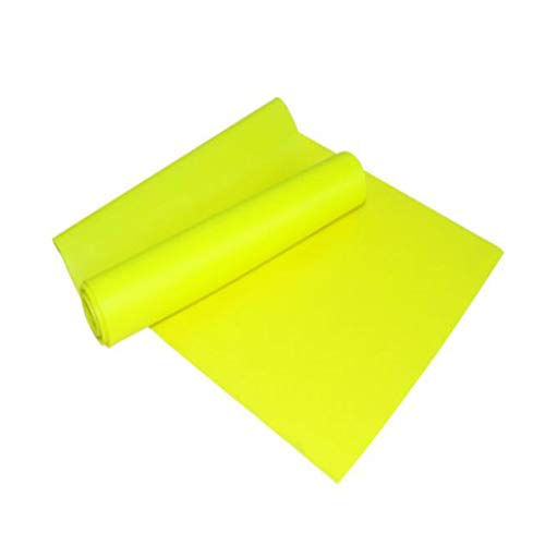 Yoga Resistance Band, High Elasticity Is Not Easy To Break Yoga Fitness Elastic Band Environmental Protection TPE Long Pull Non-deformation Yoga Ballet Pilates Sports Belt ( Color : Yellow ) ()