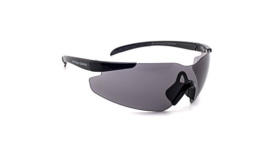27419ac467 Phillips Safety Products Warden Safety Glasses with Polycarbonate Smoke  Gray Lenses with Scratch Coating.