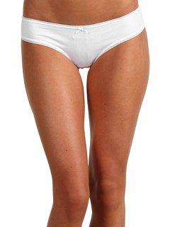 Eberjey Women's Pima Goddess Low Rider Bikini, White, s/m
