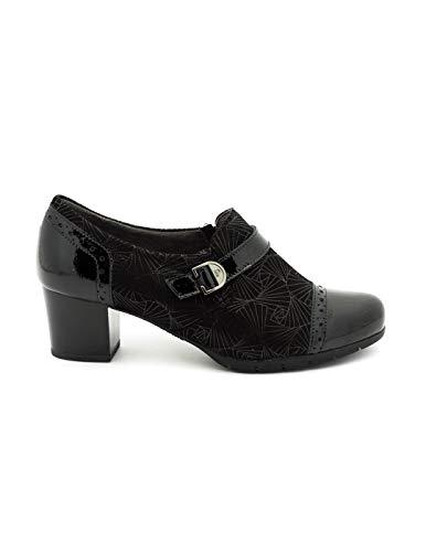 Negro Zapato Pitillos De 5271 Piel qqH7t
