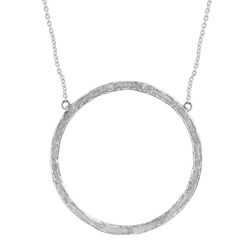 Silpada 'Duomo' Open Circle Necklace in Hammered Sterling Silver