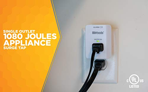 Buy woods 41008 surge protector with alarm, 1 outlet