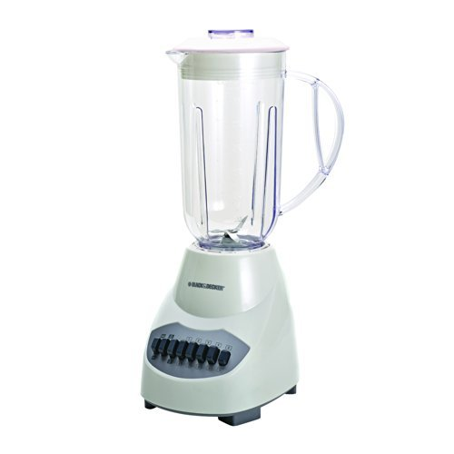 Black & Decker BL2010WP 10-Speed Blender with Plastic Jar, White