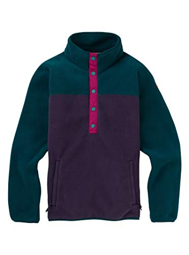 Burton Sports_Apparel Hearth Fleece Pullover, Deep Teal/Purple Velvet, X-Large