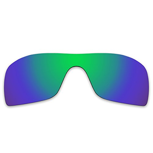 Replacement Polarized Lenses for Oakley Batwolf Sunglasses (Emerald Green  Mirror) 8326719d90