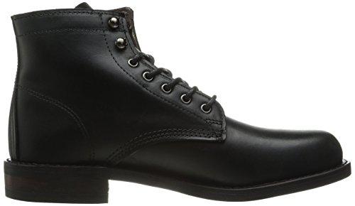 Wolverine Kilometer - Black Leather, Bottes Classics courtes, non doublées homme, Noir (Black), 43 EU