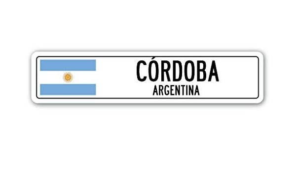 YelenaSign Cartel de Aluminio de Cerdoba Argentina con Bandera ...