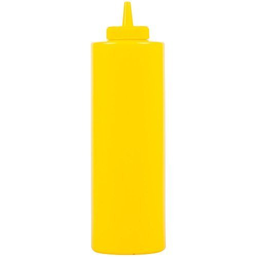 Winco 6-Piece Squeeze Bottles, 24-Ounce, Yellow by Winco