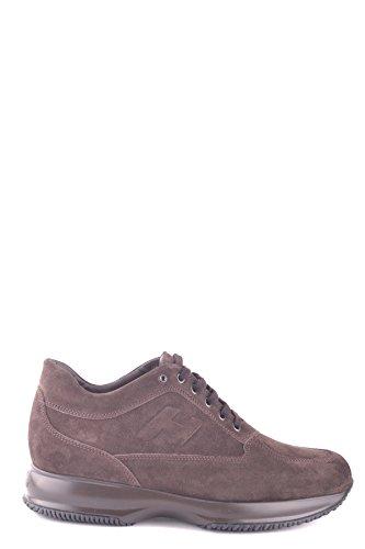 Hogan Sneakers Uomo MCBI148337O Camoscio Marrone