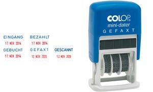 Colop Mini Dater S160 L2 Date Stamp PaID