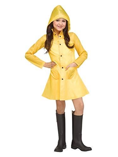 Girls Yellow Raincoat Costume ()